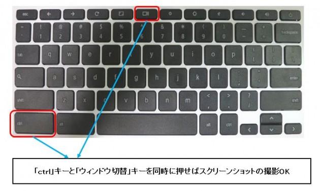 Chromebookスクリーンショットの行い方・英語キーボード